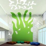 幼儿园墙面绿色大型装潢