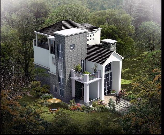现代简约农村小别墅设计图图片