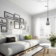 日式客厅沙发背景墙装饰