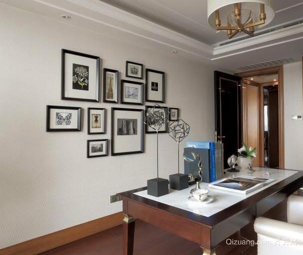 记忆定格:全新混搭风格客厅照片墙装修效果图