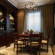 现代餐厅窗帘设计