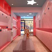 粉色系创意现代化服装店装饰
