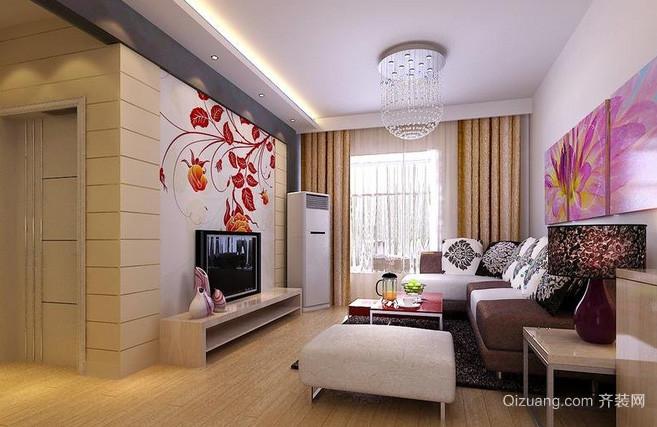 148平米雅俗共赏型客厅装修效果图欣赏