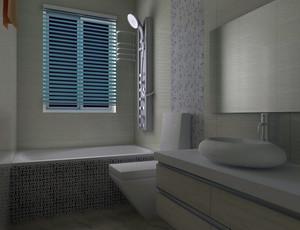 精美小户型家装卫生间效果图