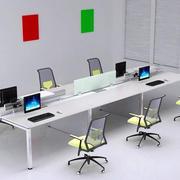一体式办公桌装饰
