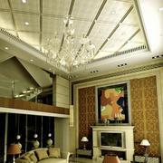 美式简约风格斜顶吊顶设计
