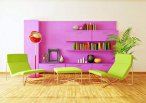 彩色客厅灯装饰
