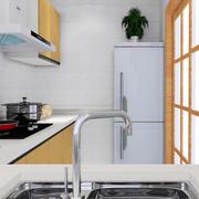 韩式小型L型厨房设计