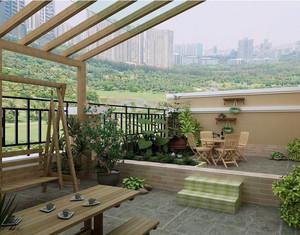 在家也可享受自然的阳台花园装修效果图