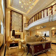 金黄色调客厅装修设计