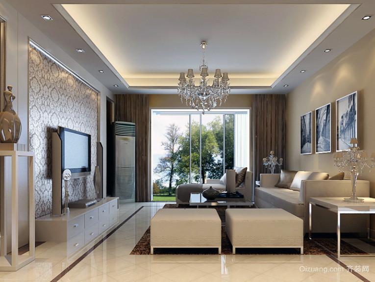 现代大户型简欧风格客厅装修效果图