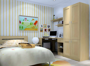 现代简约浅色房间装饰