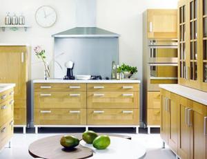 田园风情:韩式清新开放式厨房装修效果图