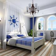 地中海灯光卧室整体图