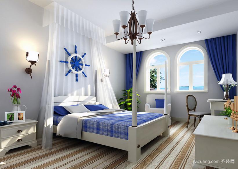 大户型地中海风格卧室装修效果图
