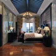 时尚卧室窗帘造型图