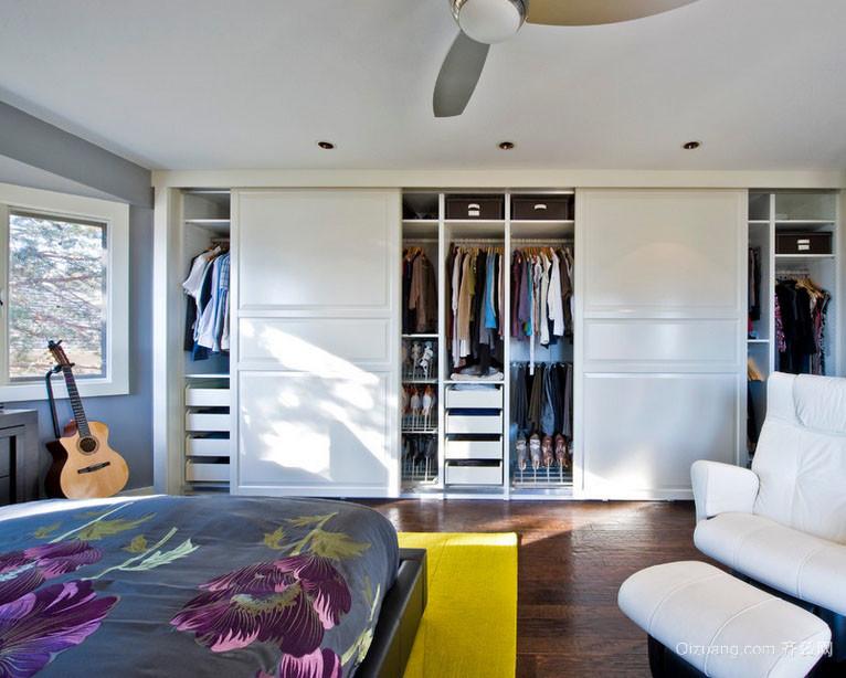 高贵优雅的家居索菲亚衣柜效果图