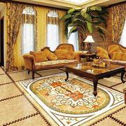 经典别墅带花纹瓷砖效果图