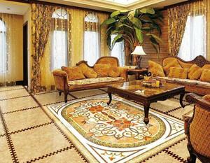 大型别墅欧式经典风格奢华蒙娜丽莎瓷砖设计