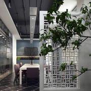 办公会议室隔断绿化