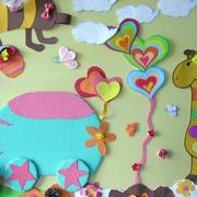 幼儿园墙面卡通布置