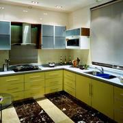 韩式大型别墅L型厨房设计