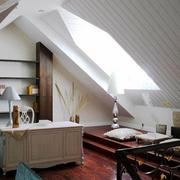 美式石膏板斜顶吊顶设计