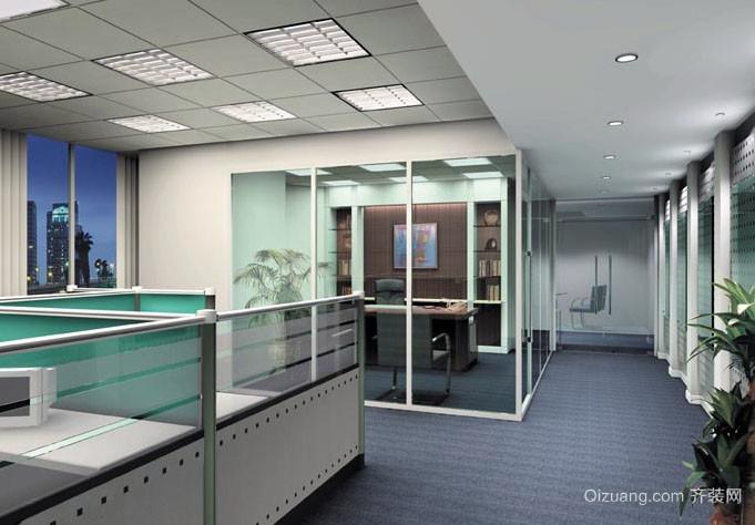 摩登有格调的办公室装修效果实景图