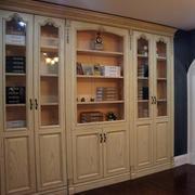 浅色调书柜装修设计