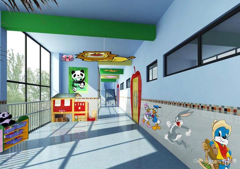 欢声笑语的幼儿园墙面设计效果图