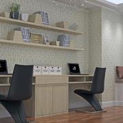 书房背景墙图案设计