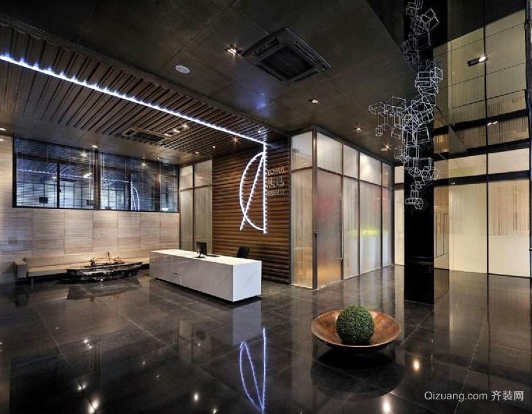 大气朴实的办公室装修效果实景图