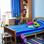 蓝色简约风格房间装饰