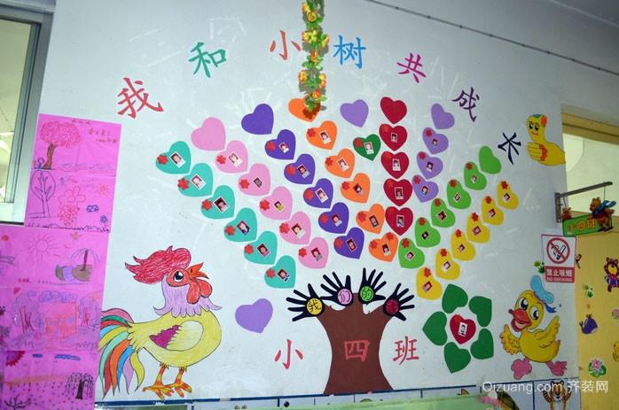 都市高级幼儿园墙面装饰设计效果图