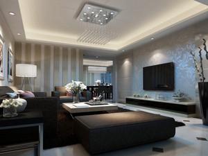 后现代风格室内客厅效果图