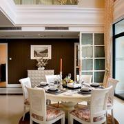 欧式田园餐厅大理石桌椅