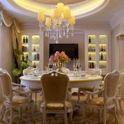 欧式奢华餐桌效果图