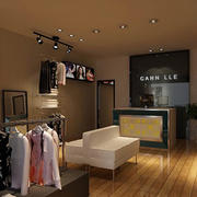 欧式简约服装店吊顶设计