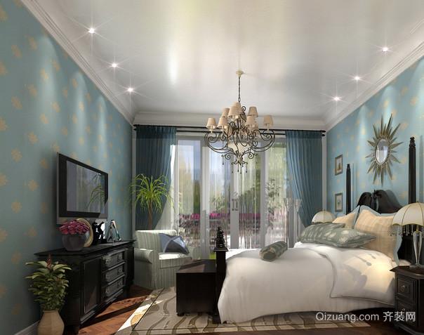 美式卧室简约风格Led射灯装修效果图