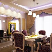 别墅欧式奢华餐厅大理石桌椅