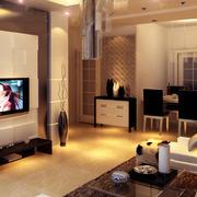 后现代风格奢华室内客厅装饰