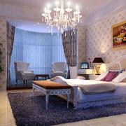 欧式田园风格室内卧室效果图