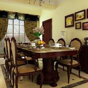 欧式经典风格餐厅桌椅设计