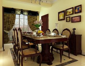 别墅奢华欧式餐厅大理石餐桌装修效果图