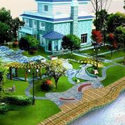 别墅庭院整体外观图
