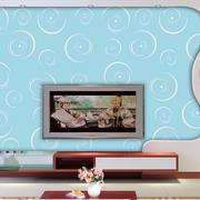 蓝色调玻璃背景墙