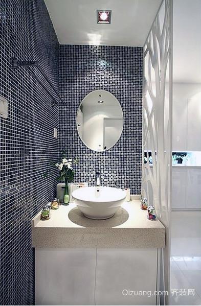 大户型卫生间瓷砖背景墙装修效果图