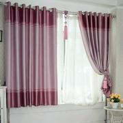 紫色调飘窗窗帘图片