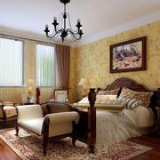美式简约室内卧室墙纸设计