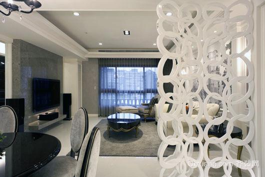 细致有条理的现代简约客厅装修图例
